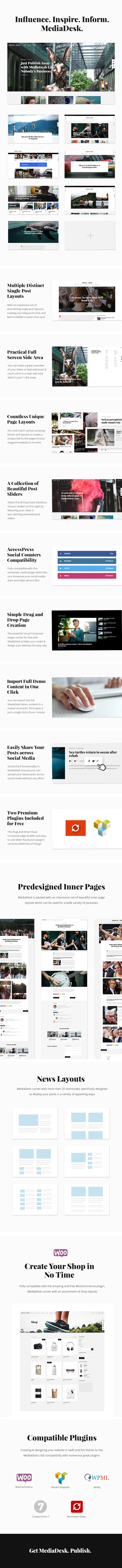 WordPress theme MediaDesk - A Contemporary News and Magazine Theme (News / Editorial)